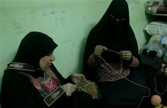 رغم فقدانها البصر.. مصرية تتحدى الإعاقة وتصبح أشهر مصممة فنون تريكو