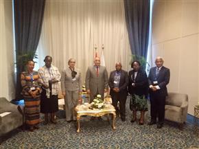 رئيس هيئة الرقابة الإدارية يلتقي عددا من الوفود المشاركة بالمنتدى الإفريقي الأول لمكافحة الفساد