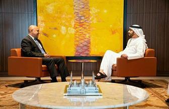 سفير مصر في أبو ظبي يلتقي  وزير الخارجية والتعاون الدولي الإماراتي