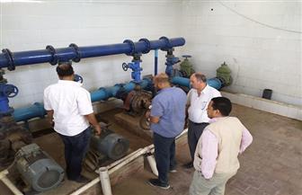 بدء التشغيل التجريبي لمحطة مياه الشرب بقرية حجارة قبلي في قنا | صور