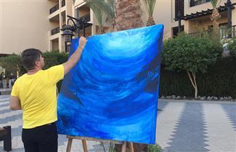 مهرجان الغردقة الدولي للفنون ينظم ورشة عمل للأطفال لرسم جدارية بطول 5 أمتار | صور
