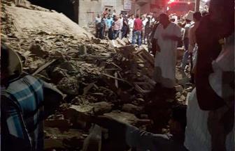 انهيارعمارة سكنية بشرق السكة الحديد بمدينة الأقصر