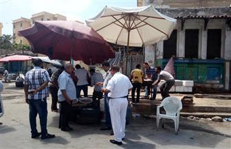 حملة مكبرة لإزالة الإشغالات بمحيط قلعة قايتباي وحلقة السمك بالإسكندرية | صور