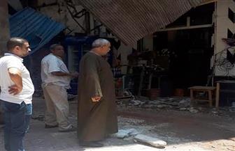 سقوط أجزاء من عقار بشارع المينا الشرقية بالإسكندرية