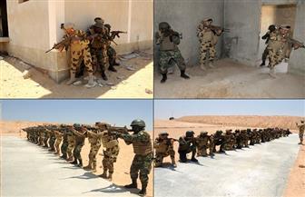 استمرار فعاليات التدريب المشترك لمكافحة الإرهاب بين عناصر من دول تجمع الساحل والصحراء بقاعدة نجيب العسكرية
