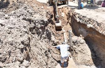 هبوط أرضي بمدينة أرمنت الحيط بالأقصر وكسر في خط المياه| صور