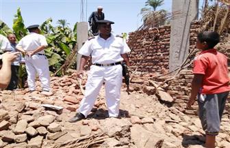 إزالة 6 حالات تعد علي الأراضي الزراعية وأملاك الدولة بمدينة الزينية شمال الأقصر|صور
