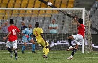 مصر تتقدم علي غينيا بهدف مروان محسن في نهاية الشوط الأول