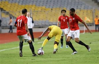 عمر جابر يحرز الهدف الثالث لمنتخب مصر أمام غينيا