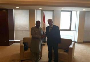 مندوب مصر بالاتحاد الإفريقي يستقبل كبير مستشاري برنامج الأمم المتحدة للإيدز