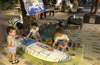 أطفال الغردقة يرسمون جدارية بطول 5 أمتار على هامش كرنفال الغردقة الدولي للفنون | صور