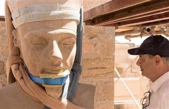 تم اكتشافه محطما منذ أكثر من 130 سنة.. الانتهاء من ترميم تمثال الإله آمون بمعبد الكرنك | صور