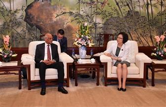 رئيس البرلمان يلتقي مديرة لجنة شنغهاى بمجلس نواب الشعب الصيني | صور