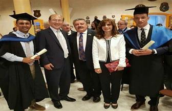 سفيرة مصر في مالطا تشارك حفل تخرج الدفعة الثلاثين للمعهد الدولي للقانون البحري  صور