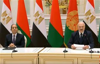 بث مباشر.. الرئيس السيسي ونظيره البيلاروسي يشهدان توقيع عدد من اتفاقيات التعاون