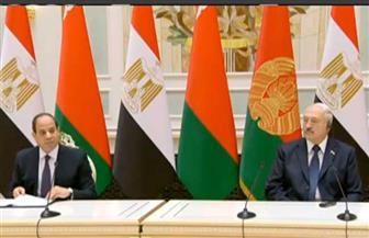 رئيس بيلاروسيا يقيم مأدبة غداء على شرف الرئيس السيسي والوفد المرافق له