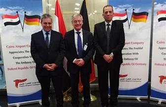 السفير الألماني بالقاهرة: مصلحتنا مشتركة مع مصر لضمان أمن السفر الجوي ومكافحة التهديدات الإرهابية | صور
