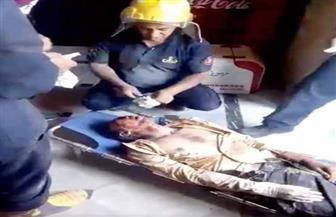 الحماية المدنية تنجح فى إنقاذ عامل بمطعم من تحت الأنقاض بالإسكندرية | صور