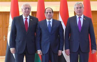 تفاصيل زيارة الرئيس السيسي للبرلمان البيلاروسي| صور