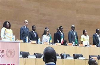 مندوب مصر بالاتحاد الإفريقي يلقي كلمة في احتفالية الذكرى الخمسين لاتفاقية منظمة الوحدة