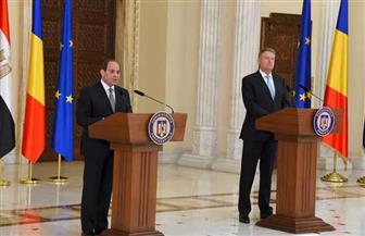 الرئيس السيسي: عرضت على الرئيس الروماني رؤية مصر لوضع إستراتيجية لمكافحة الإرهاب