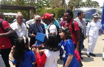 نائب محافظ السويس يستقبل بعثة منتخب أنجولا | صور