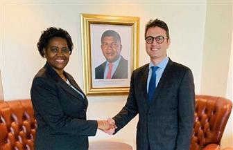 سفارة مصر في أنجولا تودع وزيرة الشباب والرياضة الأنجولية قبيل توجهها إلى القاهرة