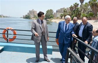 """محافظ الدقهلية يتفقد """"مرسى أم كلثوم"""" بالأتوبيس النهري تمهيدا لتشغيله ٣٠ يونيو"""
