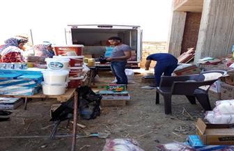 استمرار فعاليات مبادرة أهل الخير لأهالينا لمحاربة الغلاء بقرية كوم الحجر بالحامول