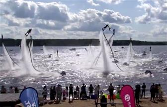 17 دولة تشارك في المهرجان الدولي للرياضيات المائية | فيديو