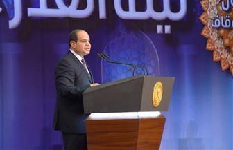 الرئيس السيسي: كل دين قوى وأهله يقدمونه بشكل طيب أو غير طيب