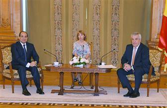 الرئيس السيسي يلتقي رئيس مجلس الشيوخ الروماني ويؤكد اهتمام مصر بتعزيز التعاون بين البلدين | صور