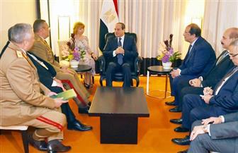 بسام راضي: الرئيس السيسي يستقبل رئيس أركان القوات المسلحة الرومانية