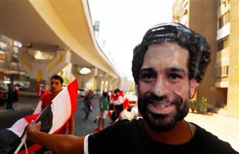 صور محمد صلاح تزين احتفالات المصريين فى افتتاح البطولة الإفريقية| صور