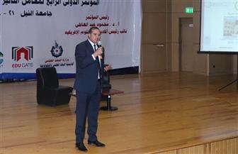 رئيس جامعة سوهاج يشارك في انطلاق مؤتمر معامل التأثير العربي بجامعة النيل |صور