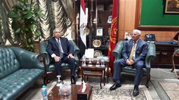 الغضبان يستقبل رئيس الأكاديمية العربية للعلوم والتكنولوجيا