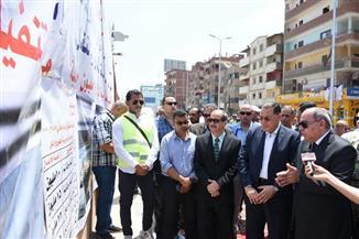"""محافظ الشرقية يفتتح أعمال تطوير طريق """"أبو حسين"""" بتكلفة 8 ملايين جنيه"""