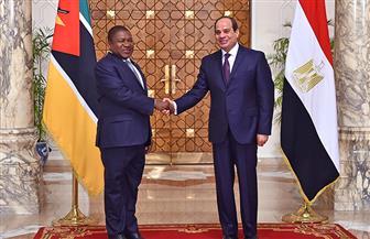 الرئيس السيسي ونظيره الموزمبيقي يشهدان مراسم توقيع عدد من مذكرات التفاهم بين البلدين
