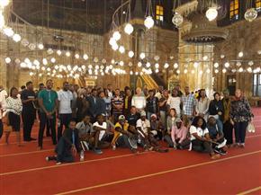 وفد من قيادات اتحاد الشباب الإفريقي يزور قلعة صلاح الدين الأيوبي | صور