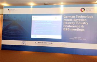 مؤتمرعلى هامش زيارة وفد ألماني لتطوير قطاع القطارات وتكنولوجيا السكك الحديدية | صور