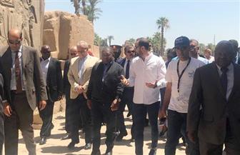 رئيس دولة موزمبيق يزور معبد الأقصر | صور