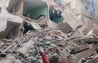 انهيار جزئي بعقار في حي الخليفة وصرف إعانات لـ5 أفراد