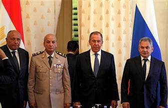 """شكري: """"اجتماع 2 + 2"""" بموسكو يهدف لإزالة التحديات التي تواجه مصر وروسيا"""