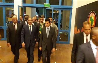 أمم إفريقيا.. رئيس جمهورية موريتانيا يؤازر بلاده أمام مالي