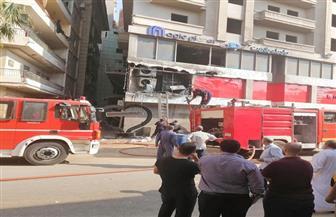 حريق يلتهم أحد المولات في المنصورة وإصابة 13 باختناقات
