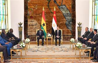 الرئيس السيسي يستقبل رئيس جمهورية غانا.. ويؤكد عمق العلاقات التاريخية بين البلدين