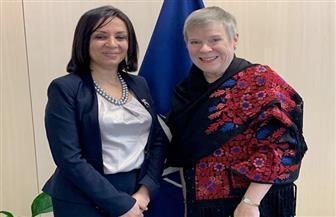 مايا مرسي تلتقى نائبة سكرتير حلف الناتو لعرض جهود مصر في مجال تمكين المرأة