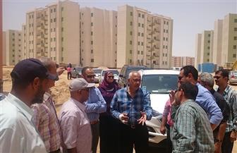 مساعد نائب رئيس هيئة المجتمعات العمرانية يتابع المشروعات الجاري تنفيذها بمدينة المنيا الجديدة  صور