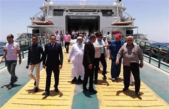 لجنة الشئون العربية بمجلس النواب تتفقد ميناء الغردقة البحري | صور