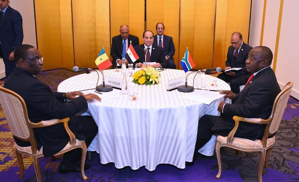 الرئيس السيسي يشارك فى قمة إفريقية تنسيقية مصغرة على هامش أعمال قمة مجموعة العشرين بأوساكا